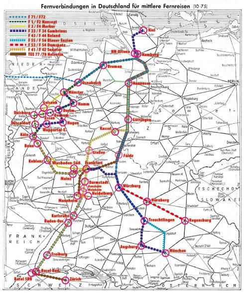 Das F Zug Netz Aus Hamburger Oder Bremer Sicht Das 1958
