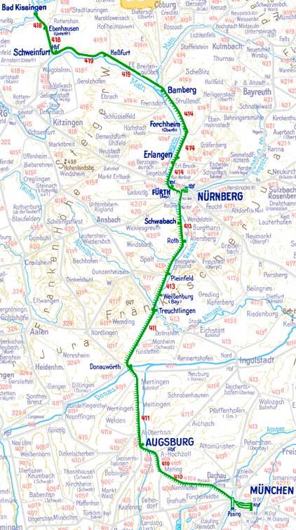 E 589 E 590 Zwischen München Und Bad Kissingen Der