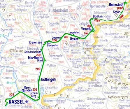 Umlaufplan 2348 vom Hauptbahnhof Kassel Das 1958Projekt Das