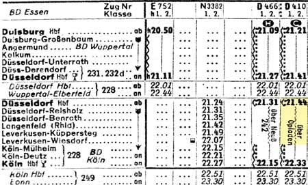 Opladen-DB-Kursbuch-Sommer-1958-Teil-3-Westen-Seite-031