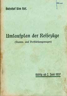 Umlaufplan-Reisezuege-Ulm-1957-Sommer
