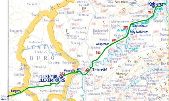 D 21 D 24 Koblenz HbfTrier HbfParis Est Das 1958Projekt