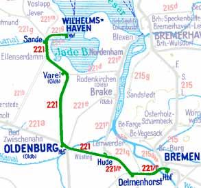 E584-Wilhelmshaven-Bremen