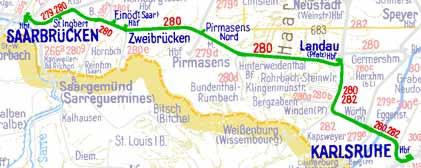 D132-Fahrstrecke